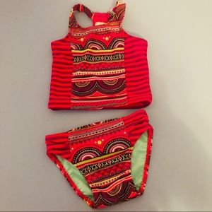 4/$25 Cat & Jack 18M 2pc Swimsuit red blue black
